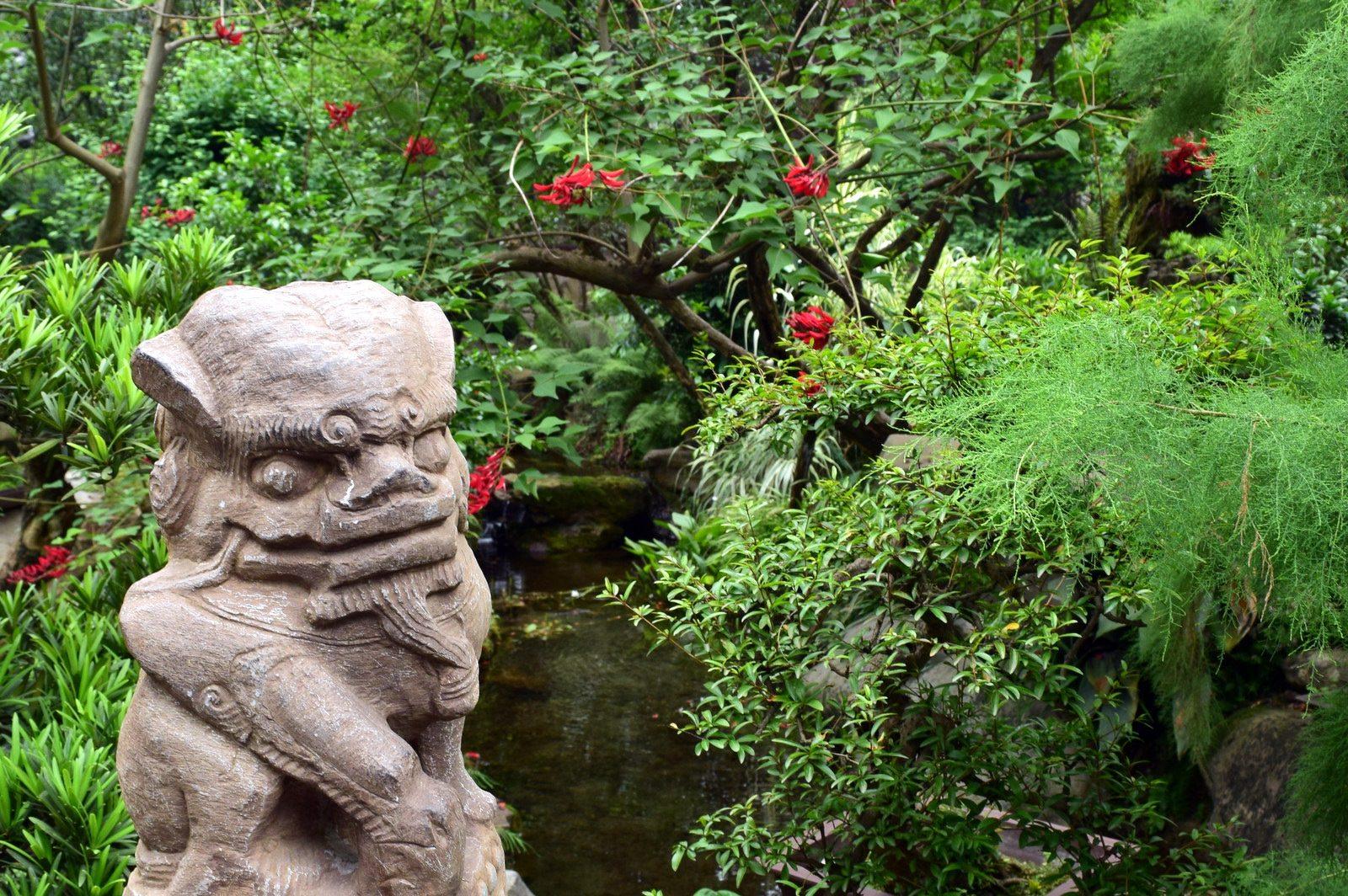 הגן של מקדש וו-חואו (צילום: טל ניצן)
